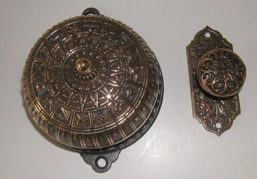 Brass Victorian Doorbell And Pull