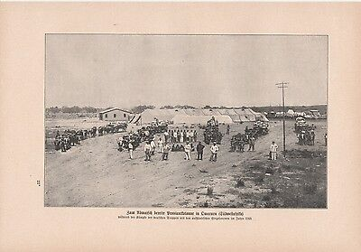 DSWA Omaruru Proviantkolonne Deutsch-Südwestafrika DRUCK von 1906 Namibia