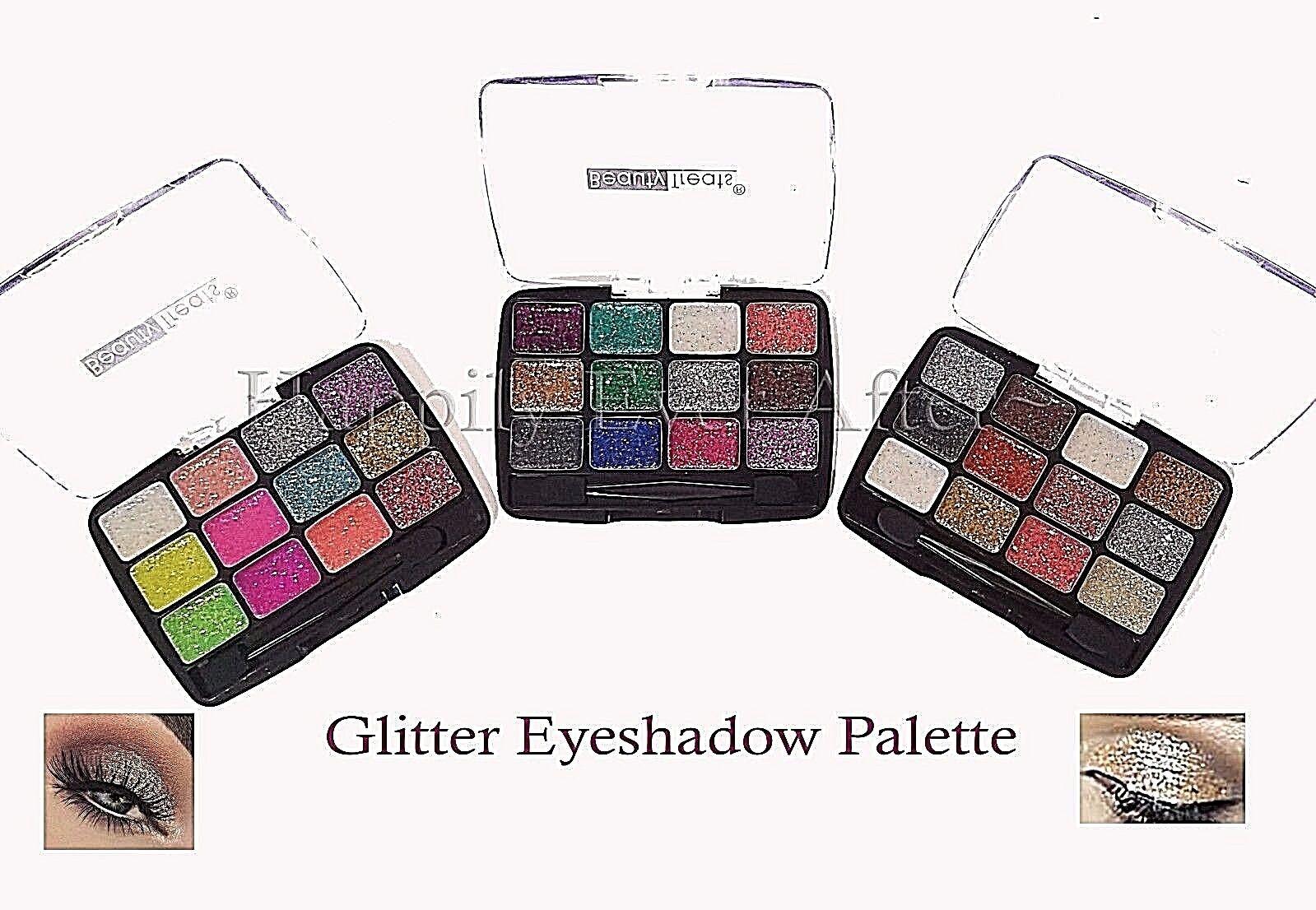 Glitter Eyeshadow Palette Beauty Treats 12 Color Glitter Pal