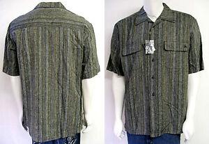 Men 039 s stacy adams gray linen button down shirt sz m l for 6xl button down shirts
