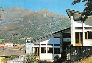Cartolina-Postcard-Brosso-Nuovo-Edificio-Scolastico-anni-039-50