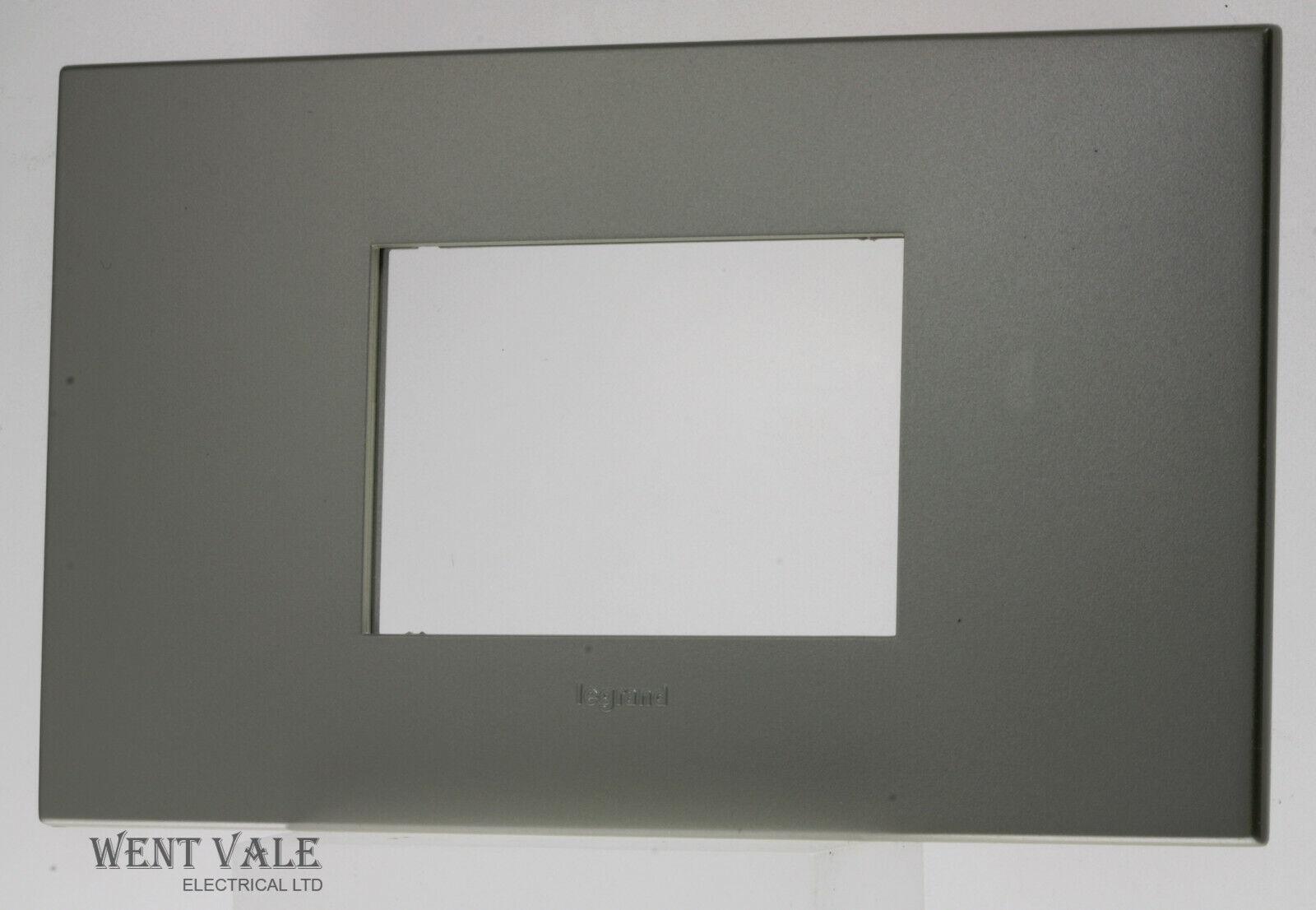 Legrand Arteor Neutral Range - XX5750 70C - 2g  3 Modual Champagne Cover Plate