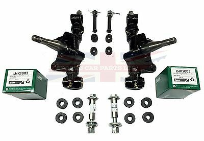 100% New Swivel Axle Assembly Set + Bearings +Poly Bushings+ Trunnions MGB 63-80