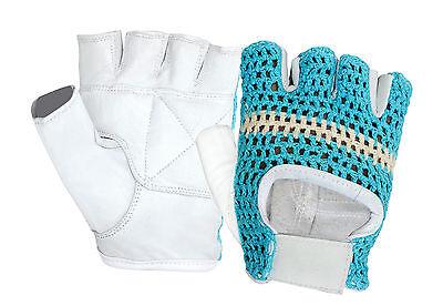 crochet back padded bodybuilding exercise gym gloves