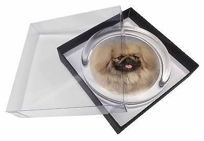 Pekingese Dog Glass Paperweight in Gift Box Christmas Present, AD-PK3PW