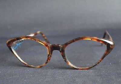 er Cat Eye Katzenaugen Brille Sun Glasses Frame NOS Unisex (Katze Auge Frames)