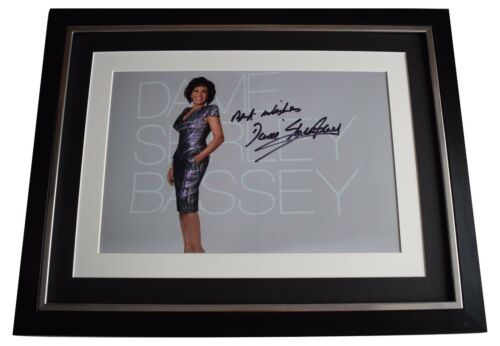 Shirley Bassey Signed Framed Photo Autograph 16x12 display Music AFTAL COA