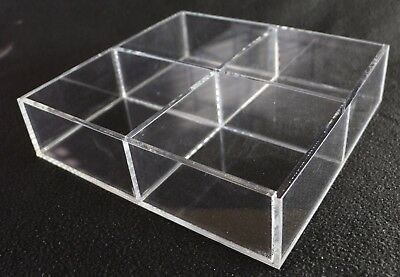 Acrylic Square Counter Top Display Case 12x12x2.5 Display Box Acrylic Section
