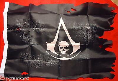 Assassins Creed 4 Black Flag - Piratenflagge - ca 35x50cm - AC4 Pirate Flag