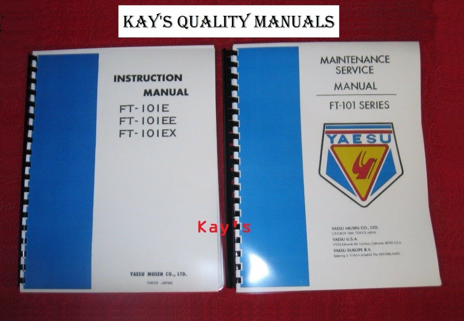 "Yaesu FT-101E//EE//EX Instruction Manual 11/"" X 36/"" Schematic /& Plastic Covers!"