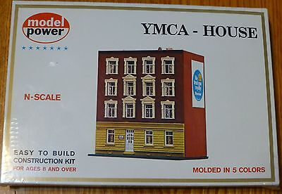 Model Power N #1533 Building Kit -- YMCA Building - 3-1/4 x