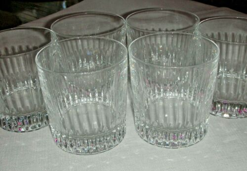 Vintage Rare Set of 6 Crystal Cut Old Fashioned Glasses by Royal Gallery