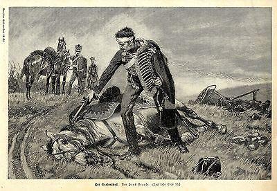 Hans Krause ( Der Gnadenschuß ) Militärische Graphik von 1897