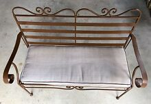 Iron Folding Black Slatted Garden Bench Cannon Hill Brisbane South East Preview
