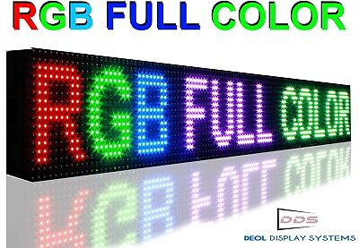 7 X 51 Led Sign Full Color 10mm Pitch Programmable Neon Digital Message Board