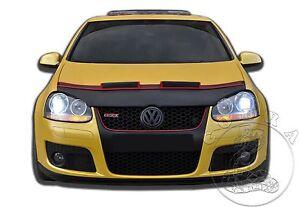 Car Hood Bra + RED FELT Fits VW Volkswagen Golf 5 MK5 V Rabbit GTI 06 07 08 09