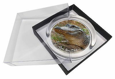 Crocodile 'Love You Dad' Glass Paperweight in Gift Box Christmas Pres, DAD-146PW