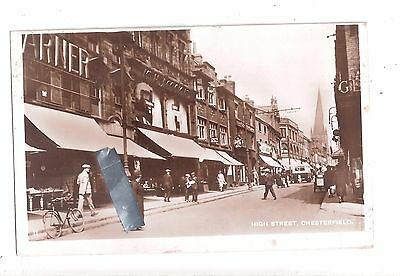 RP High Street, Chesterfield ~ Real Photographic Postcard used