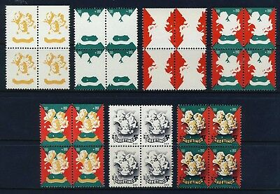 1950 USA Christmas Seal Progressive Proofs BLOCKS (7) . Mint Never Hinged