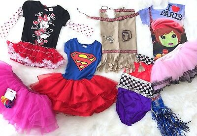 Girls 2 To 4 Toddler Dress Up Lot Super Woman Minnie Mouse Tutu Costumes - Superwoman Tutu