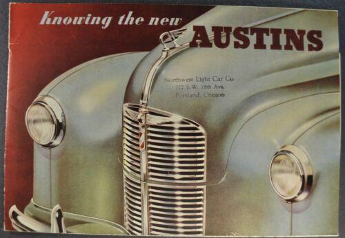1947-1948 Austin A40 Sales Brochure Folder Dorset Devon Sedan Nice Original