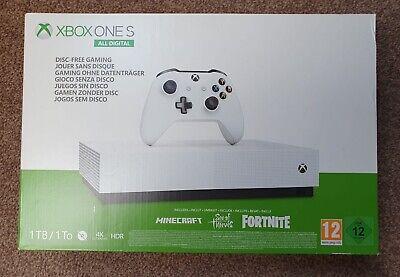 Microsoft Xbox One S 1TB White All Digital V2 Console