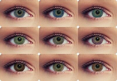 Farbige Kontaktlinsen mit oder ohne Stärke Funlinsen 3 Monatslinsen Design: Soft