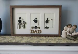 Perfect Father's Day gift- Hand made pebble art