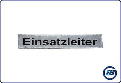 """Rückenschild DRK Rettungsdienst """"Einsatzleiter"""" mit Klett 30 x 5cm"""
