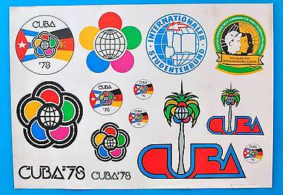 DDR Plakat Poster 909 | Cuba 1978 Kuba Studentenbund | 81 x 58 cm Original