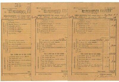 31° 32° REGGIMENTO FANTERIA SPECCHIETTO ASSEGNI 1910 STIPENDI CAPITANO 12 BUSTE