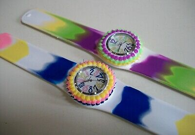 Girls Cool Fashion Watch - Girls/Women's Fashion Cool Candy Colors Silicone Rubber Slap Wrist Casual Watch