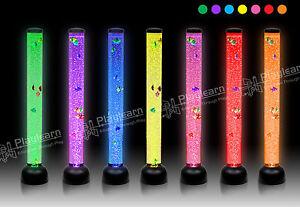 LARGE-Bubble-TUBE-LED-Colour-Changing-Mood-Novelty-Floor-LAMP-8-Fish-105cm