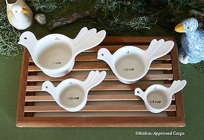 URBAN OUTFITTERS NESTING BIRDS MEASURING CUPS (4) -NWT- JUST WING IT FOR RECIPES