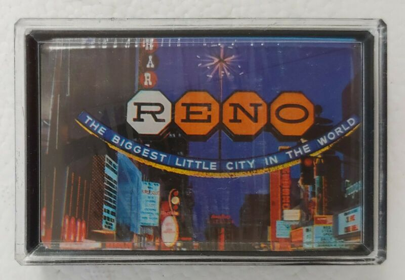 70s RENO Souvenir Playing Cards BIGGEST LITTLE CITY SIGN New Sealed Deck + Case