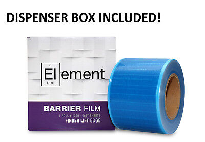 Dental Barrier Film With Dispenser Sticky Wrap Blue 4 X 6 1200 Sheets