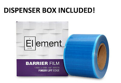Dental Barrier Film With Dispenser Sticky Wrap Blue 4 X 6 1200 Sheets