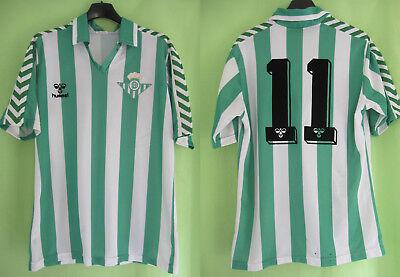 Maillot Real Betis Seville #11 Hummel vintage 1998 Jersey Football - M image