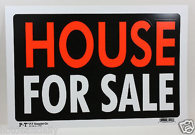 House For Sale Sign 8 X12  Business Home Rental Usa Made Plastic New