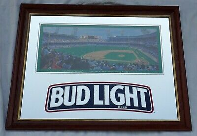 "Rare Bud Light Detroit Tiger Stadium Mirror 35"" 5/8 x 27"" 3/4 Awesome Condition"