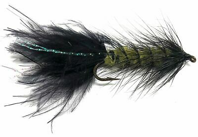 Bead Head Wooly Bugger Flies One Dozen 4 Sizes 6 8 10 12 Black//Brown