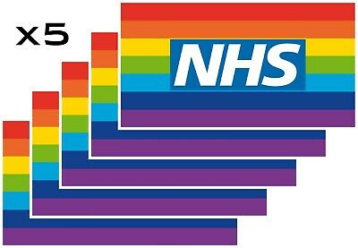 Rainbow NHS virus Covid Thankyou CAR VAN WINDOW STICKERS !!! X5
