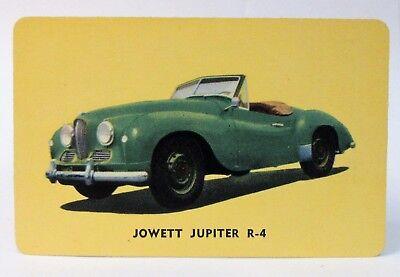 1955 D72 Mothers Cookies Jowett Jupiter R 4  10 Sports Car Trading Card Hi Grade