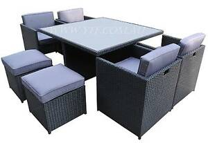 Primo 9 Brand New Wicker rattan outdoor Dining Set furniture Auburn Auburn Area Preview