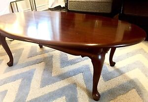 Gibbard, legacy, oval cocktail table in mahogany
