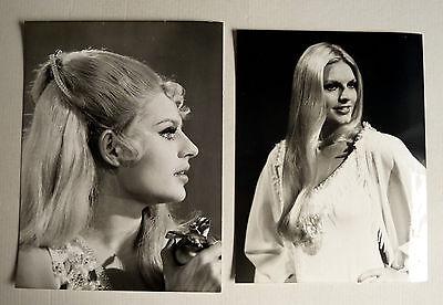 MARLENE CHARELL * 2 PRESSEFOTOS diverse Grössen PHOTOS LOT Revue 1970er MUSIK