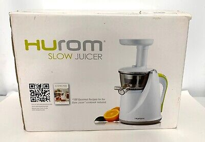 Hurom Slow Juicer HU-100W UNUSED, NEW IN OPEN BOX White Complete w/Instructions