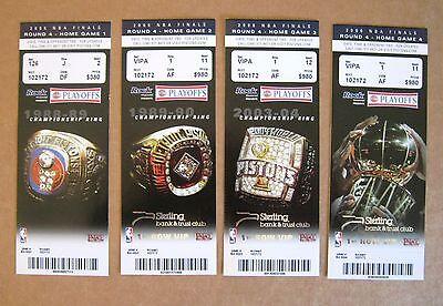 Detroit Pistons Ticket Stubs Set of 4 2006 NBA Finals 1st Row VIP !