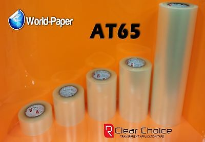 """1 Roll 12"""" x 300 Feet Application Transfer Tape Vinyl Signs R TAPE Clear at 65"""