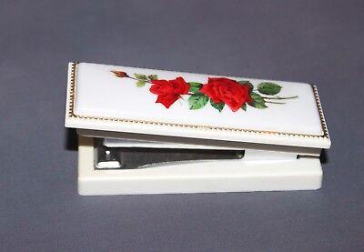 Vintage Hallmark Cards Fancy Plastic Floral Mini Stapler 4 W Use Tot 50 Staples